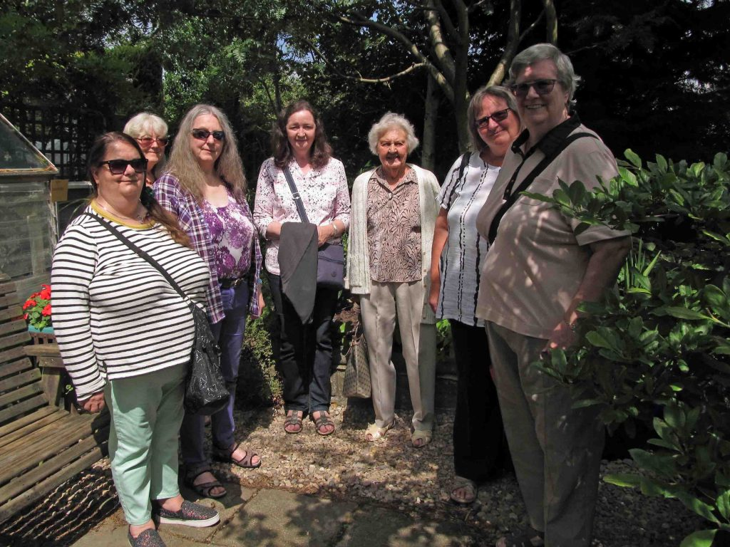 A group of ladies from Townswomen's Guild who visited my garden (open for National Gardens Scheme), 15th July 2019.